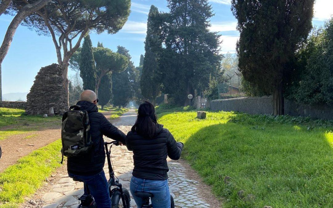 Balade sur la via Appia anticaà vélo